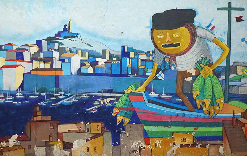 Streetart im Panier-Viertel von Marseille