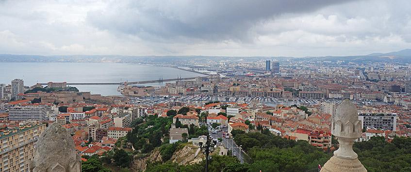 Marseille-Blick von der Kathedrale