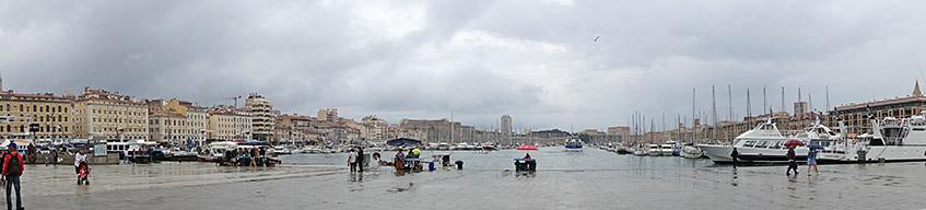Tristesse - Hafen im Regen