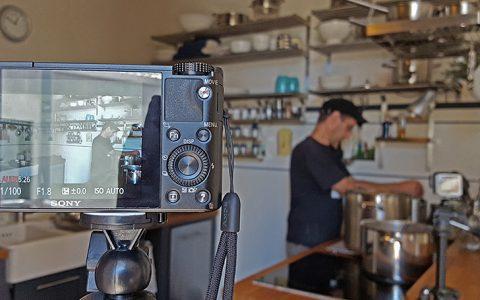 Filmaufnahmen - Audio mit der kompakten, Video mit der GoPro