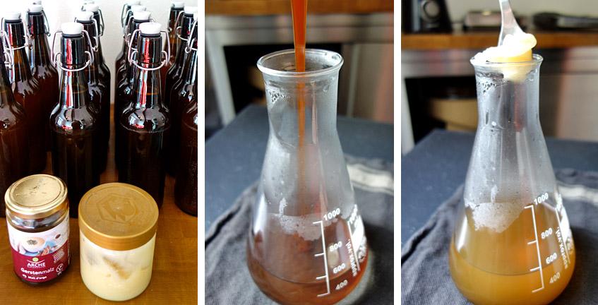 Aufzuckern mit Malzextrakt und Honig