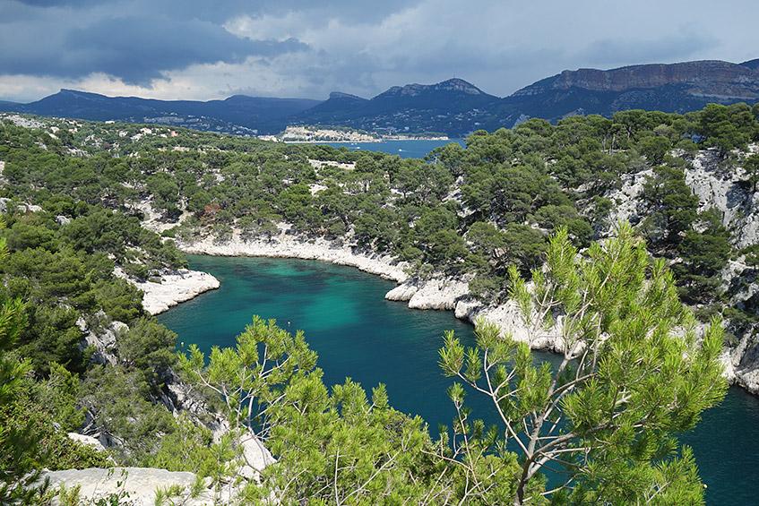 Calenque de Port-Pin und das Meer - türkis und blau