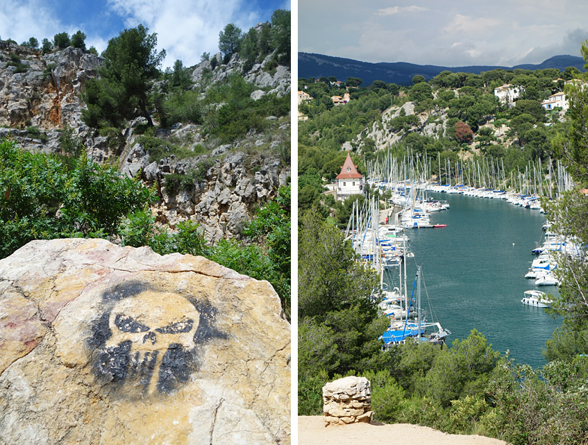 Calenque de Port-Miou - die Wanderung beginnt