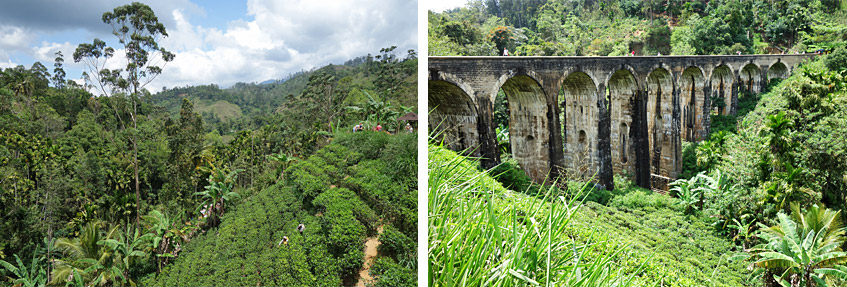 Traumhafte Landschaft an der Nine Arches Bridge