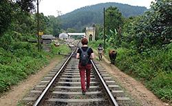Zum Bahnhof laufen - mal anders