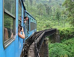 Typisch: Auf-Brücke-aus-blauem-Zug-Foto