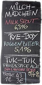 Verkaufstafel bei den Craft Bier Tagen