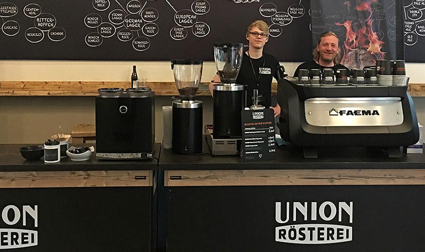 Kaffee-Spezialisten von der Union Rösterei