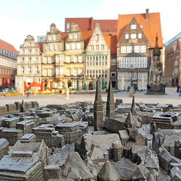 Mein Bremen: Bronze-Altstadt-Tast-Modell