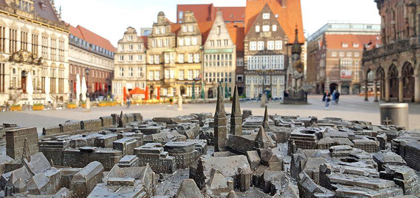 Tastmodell der Bremer Altstadt