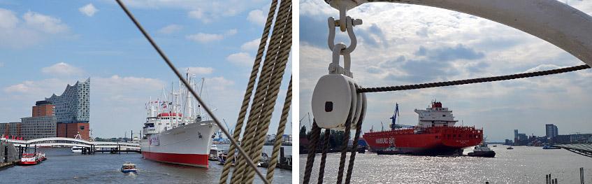 Mächtig was los auf der Elbe