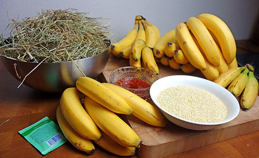 Zutaten für das Bananenbier