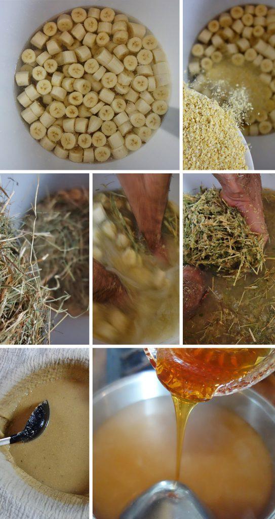 Herstellung von Bananenbier