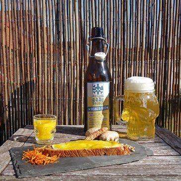 Ingwer-Dreierlei – Witbier & Shot & Marmelade