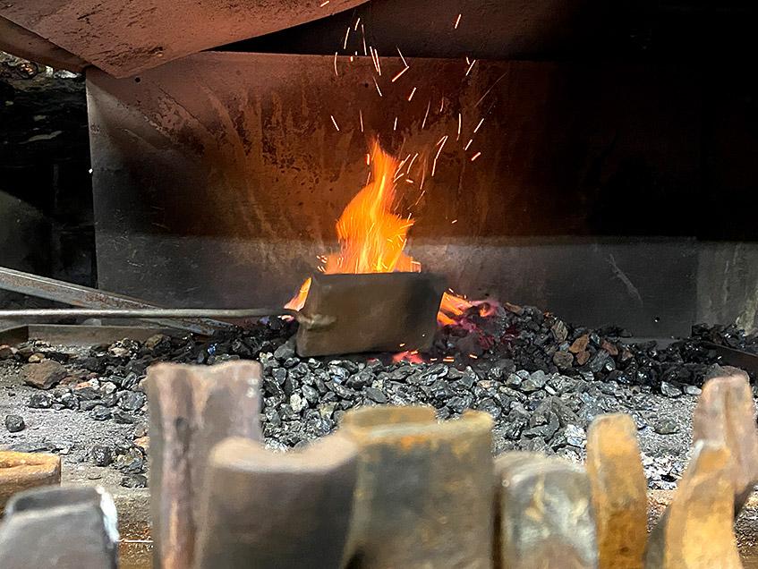 Feuer in der Esse